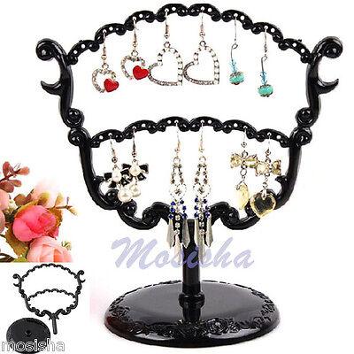 28 Holes Tree Shaped Vintage Earrings Organizer Jewelry Holder Display Standrack