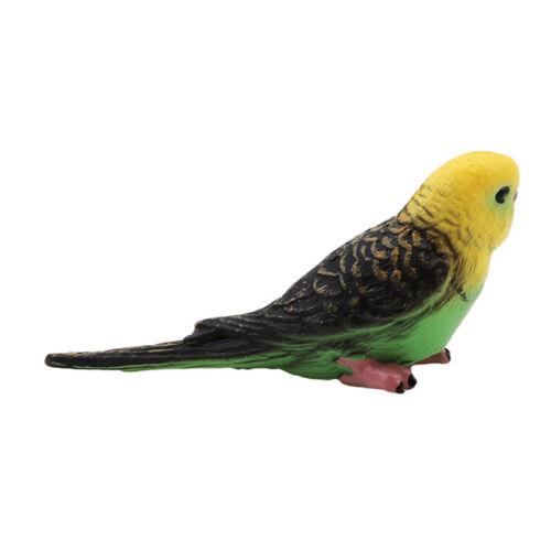 Simulation mini Parrot cute bird figurine animal Model home decor miniature I