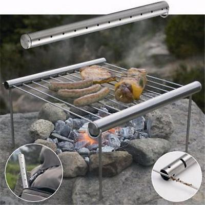 NEW Stainless Steel Portable Camping Pacnic Outdoor Charcoal BBQ Grill - Y2