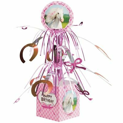 Heart My Horse Happy Birthday Centerpiece Girls Ranch Pony Birthday Decorations