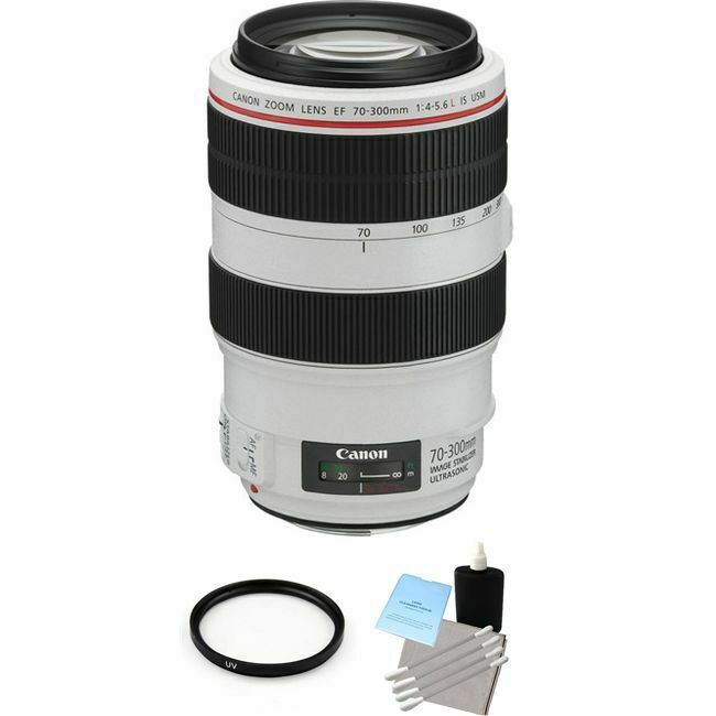 Canon EF 70–300mm f/4–5.6L IS USM Telephoto Zoom Lens White 4426B002