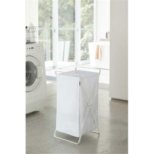 YAMAZAKI home 2484 14.2 x 11.8 in. Tower Laundry Basket - White