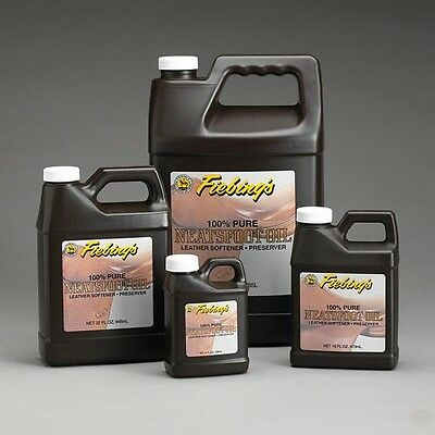 Neatsfoot Oil (Fiebings Pure Neatsfoot Oil, Leather conditioner, 8 oz, 16 oz or 32)
