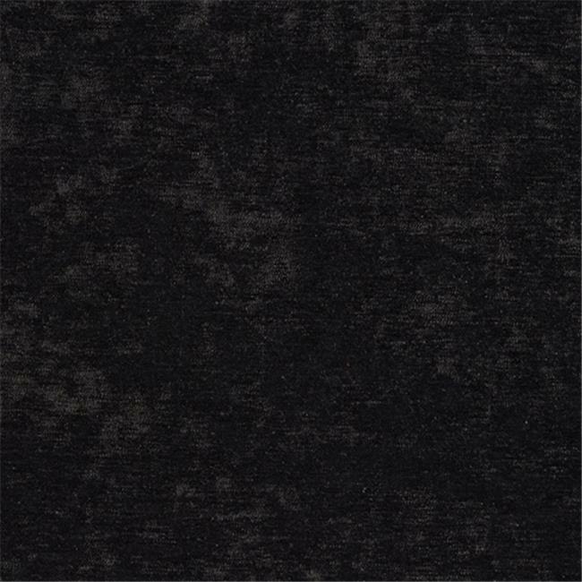 Designer Fabrics K0150C 54 in. Wide Black Solid Shiny Woven Velvet Upholstery...