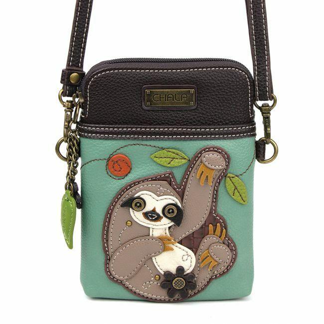 Chala - Sloth - Cellphone Crossbody Handbag