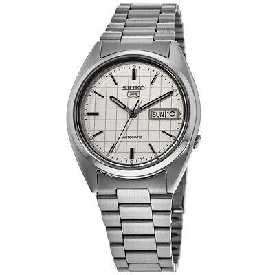 New Seiko 5 White Dial Steel Men's Watch SNXF05K1