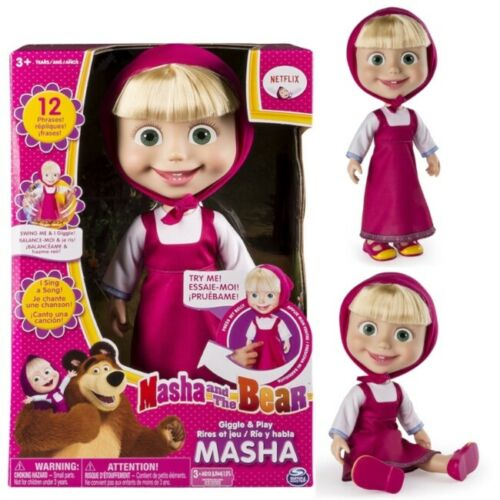 """Cute Talking Doll Real Singing Masha And The Bear Interactive Child Toy Gift 12"""""""
