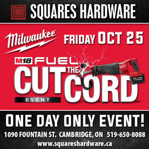 Milwaukee Tools Cut The Cord Event: Oct 25