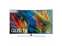 """Samsung QLED QE65Q8CAM 65"""" Ultra HD 2160p HDR Curved TV With Cloud Gaming In Silver"""