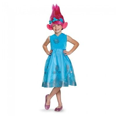 Disguise Trolls Poppy Deluxe w/ Wig & Ears Child Girls Halloween Costume 18149