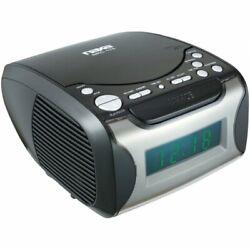 Naxa Digital Alarm Clock with Digital Tuning AM/FM Radio CD Player