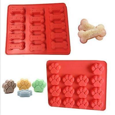Silicone Pet Dog Bone Paw Soap Cake Mold Candy Chocolate Fondant Tray Icing W](Dog Bone Candy)