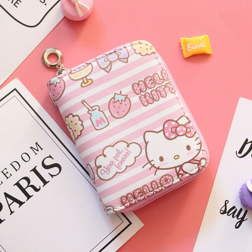 Hello kitty wallet purse pink lovely gifts present cards Japan hand bag