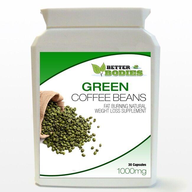 Green Coffee Bean Extract Caps Pill Bottle Diet Weight Loss