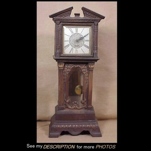 1950s Haddon Electric Motion Miniature Grandfather Clock Sychron Movement