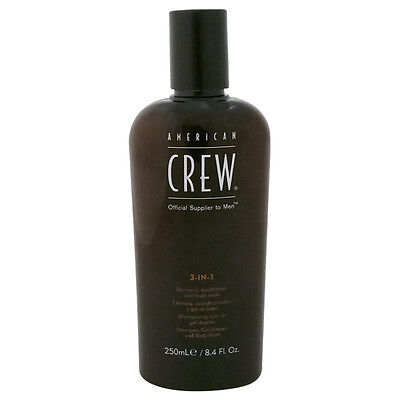 3 In 1 Shampoo & Conditioner & Body Wash by American Crew for Men - 8.4 oz Shamp