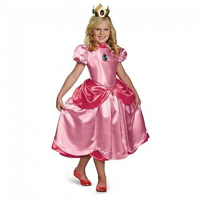 Super Mario Bros - Princess Peach Deluxe Child Costume (Princess Peach Child Costume)