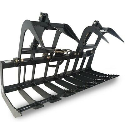 72 Root Grapple Rake For Kubota And Bobcat Attachment For Skid Steer Buckets