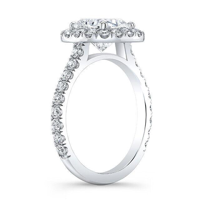 Beautiful 2.08 Ct Cushion Cut Halo Round Diamond Engagement Bridal Set I, IF GIA 2
