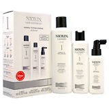 Brand New System 1 Thinning Hair Kit Fine Natural Nioxin Unisex 3 Pc Kit