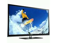 """SAMSUNG 43"""" HD READY 720p PLASMA TV with FREEVIEW + STAND+ WALL BRACKET!!"""