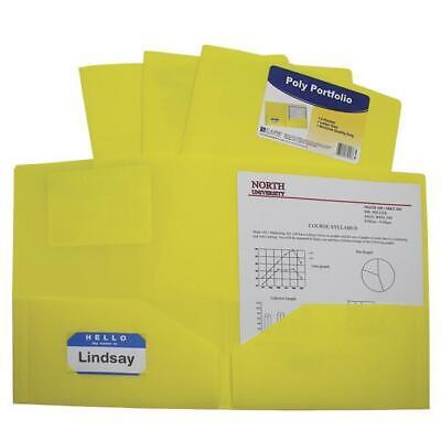 C-line Products 1597273 Two-pocket Heavyweight Poly Portfolio Folder Yellow -...
