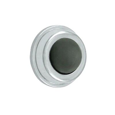 Polished Chrome 1 inch Flush Wall Bumper Door Stop DELTANA WB100 U26 Solid (100 Polished Chrome Wall)