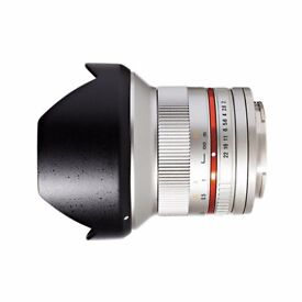Samyang 12 mm F2.0 Manual Focus Lens for Sony E mount SILVER