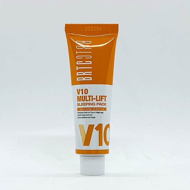 BRTC V10 Multi Lift Sleeping Pack 20ml Whitening Anti Wrinkle Cream K-Beauty