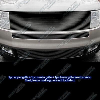 Edge Billet - Fits 2007-2010 Ford Edge Black Upper and Bumper Combo Black Billet Grille