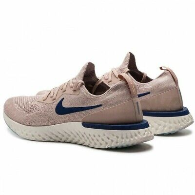 Nike EPIC REACT FLYKNIT Men Size UK  10  Diffused Taupe/blue