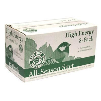 Heath DD4-8 Bird's Blend High Energy All-Season Suet Cakes, 11.25 Oz, (Energy Bird)