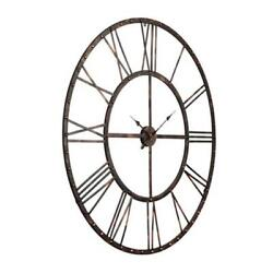 Utopia Alley Oversized Roman Round Wall Clock Black 45″