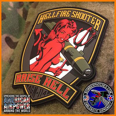 AGM-114 HELLFIRE SHOOTER PVC MORALE PATCH AH-64 APACHE AH-1 COBRA ARMY AIR CAV