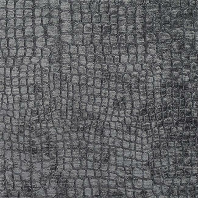Designer Fabrics K0151U 54 in. Wide Grey Textured Alligator Shiny Woven Velve...
