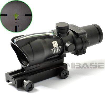 ACOG 4X32 Rifle Scope Green Illumination Source Fiber Optics Scope Crosshair
