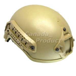 Airsoft-Tactical-Hunting-MICH-2001-Helmet-with-Side-Rail-NVG-Mount-DE-Tan