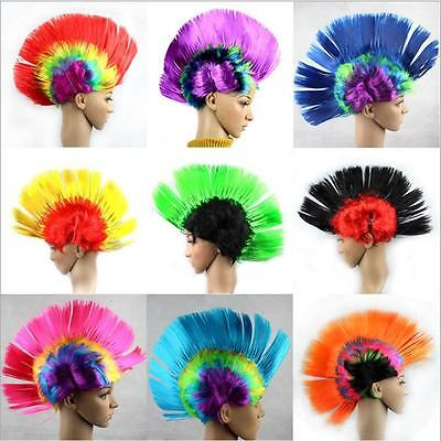 Unisex Punk Cockscomb Wig Hair Funny Cosplay Costume Halloween Party Hair Wigs