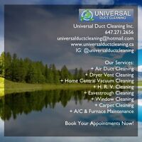 Carpet Cleaning, Window Cleaning, Eavestrough Cleaning