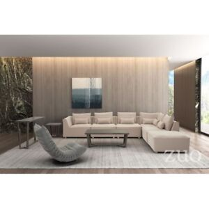 3 month old Zuo California Sectional 7 piece set