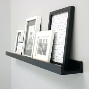 Ikea Ribba black frames and shelf