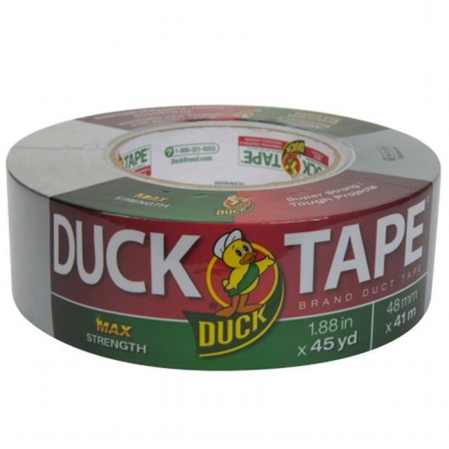 Duck 240201 Maximum Strength Duct Tape 11.5mil 1.88 in. x 45yd 3 in. Core Silver
