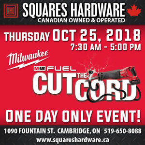 Milwaukee Tools: Cut the Cord Event (Oct 25)