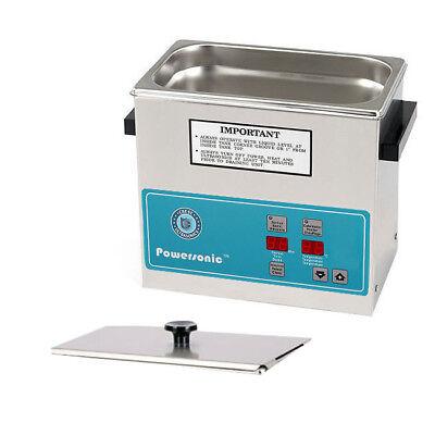 New Crest Powersonic P230h-45 0.75 Gal Heated Ultrasonic Cleaner 0230ph045-1