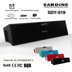 Wireless Bluetooth Sardine Sdy019 Radio Alarm Clock Speaker for Smartphone New