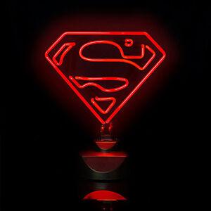 Details about Superman Neon Luce 30cm Lampada Da Tavolo Lampada nuovo