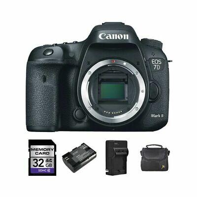Canon EOS 7D Mark II DSLR Camera + 2 Batteries, 32GB & More