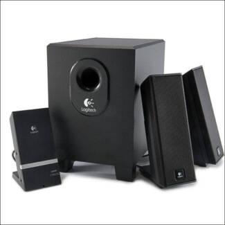 Logitech X-240 2.1 Speakers with MP3/Audio Device Dock