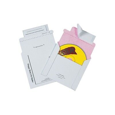 Tyvek Lined Cd Mailers 5 18x5 White 100case