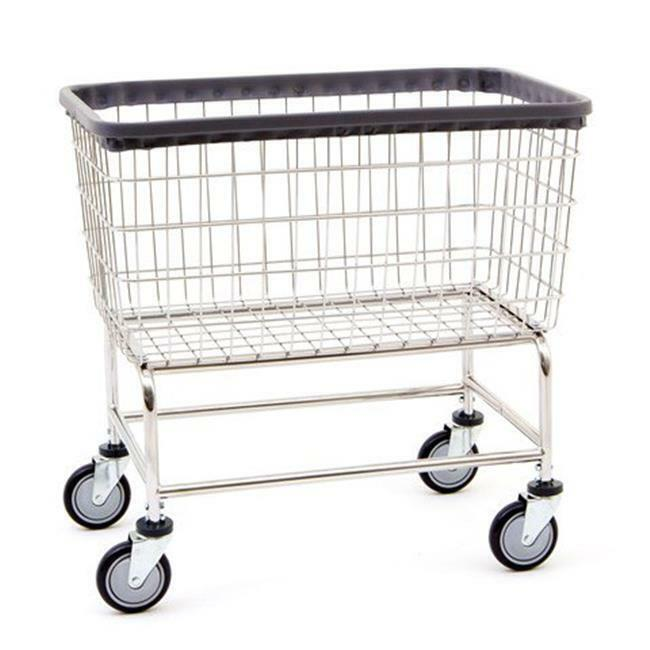 R&B Wire 200F Large Capacity Wire Frame Metal Laundry Cart
